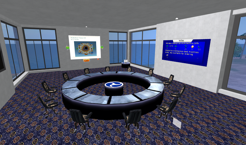 DOT building in Second Life