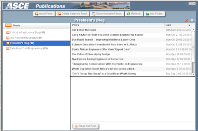 ASCE RSS Feed Display