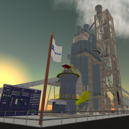 FLSmidth Cement Plant in Second Life