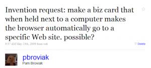@pbroviak Tweet May 2009