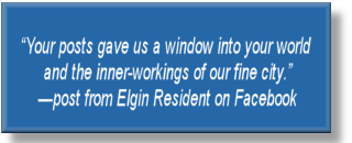 Post from city of Elgin resident on Facebook