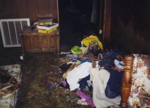 Debris in a Hoarder Home
