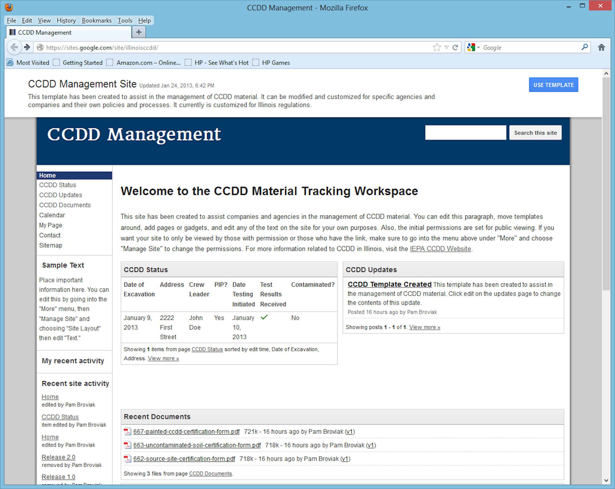 CCDD Management Site