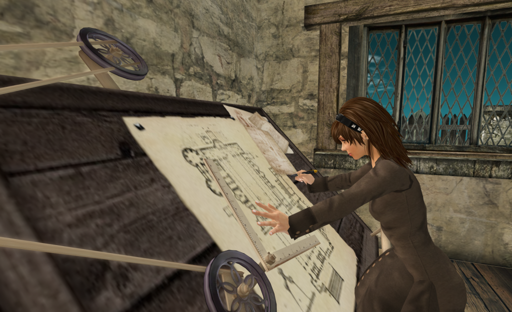 Drafting Table in Second Life