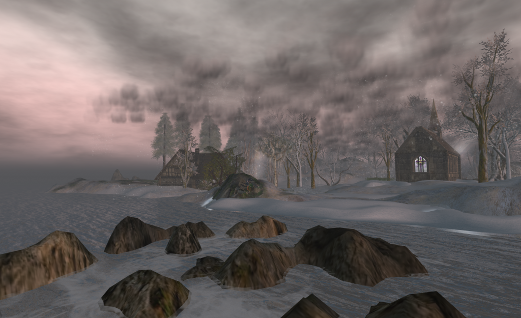 Typical customization of land, ocean, and sky in Second Life