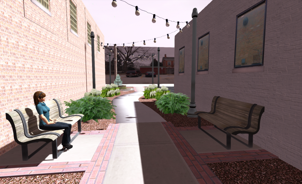 Alley 3D Visualization Looking East