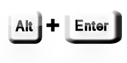 alt+enter buttons