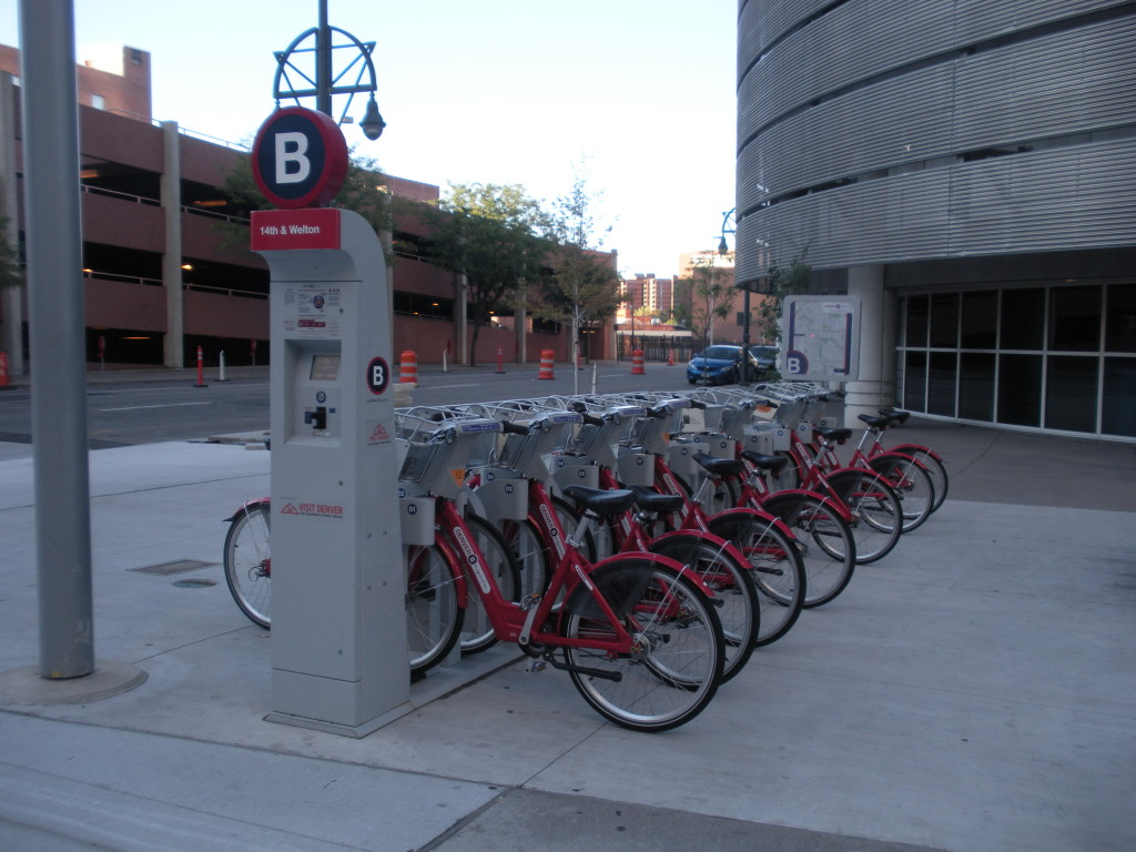 Bike Sharing Station in Denver Colorado