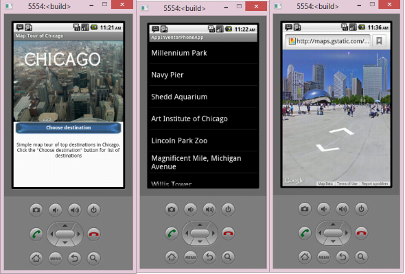 Chicago Map Tour Screen Shots