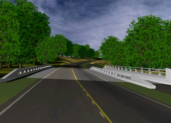 Roadway Design Visualization - Natchez Trace Parkway, MS
