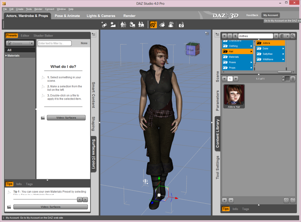 DAZ Studio Interface