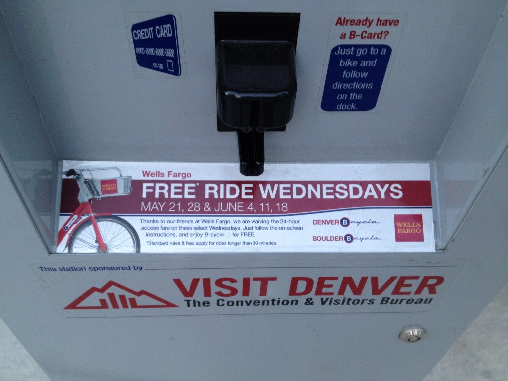 Denver B-cycle Kiosk