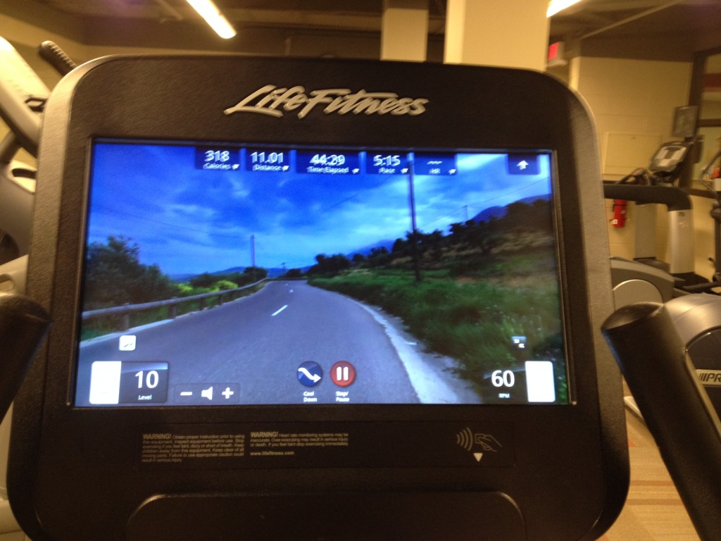 Stationary Bike Screen