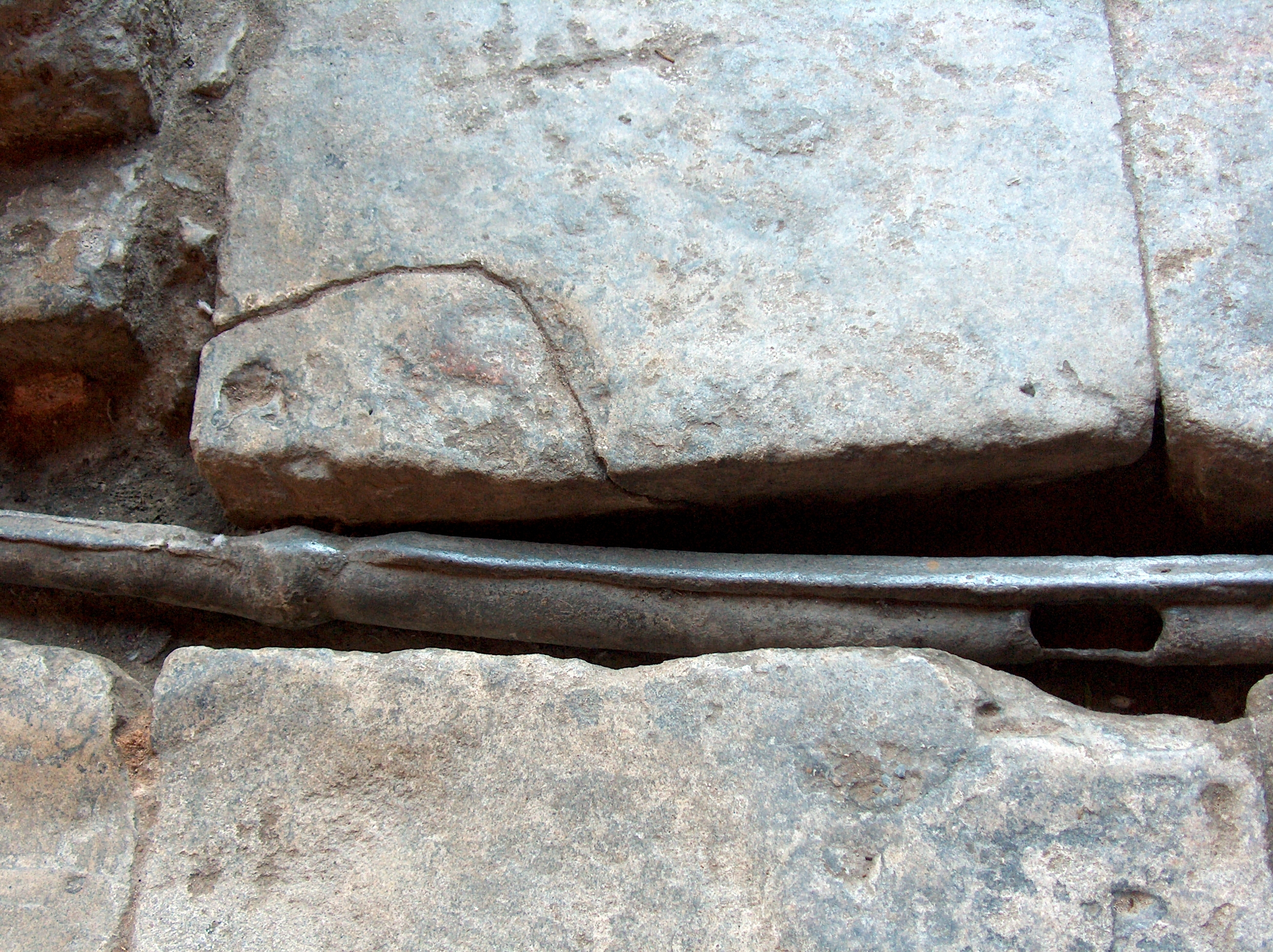 Lead Pipe at Roman Bath in Bath, England