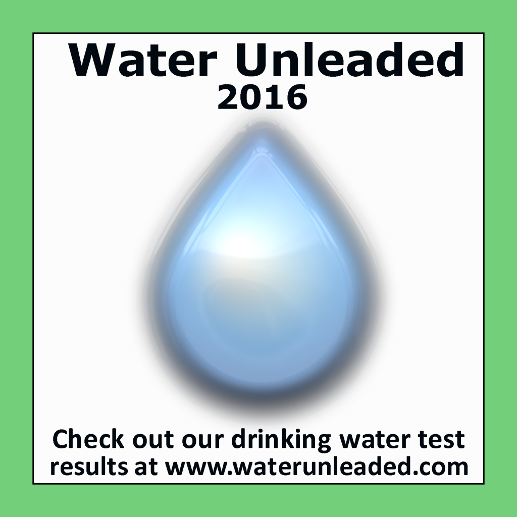 Water Unleaded Window Cling Example