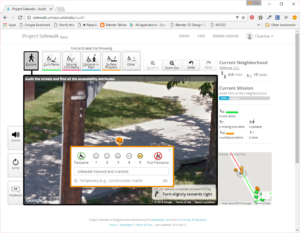 Project Sidewalk Surface Problem Rating