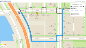 Planned route example on accessmap