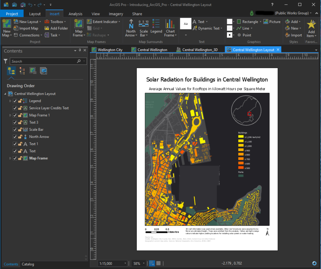 ArcGIS Pro ScreenShot of Layout