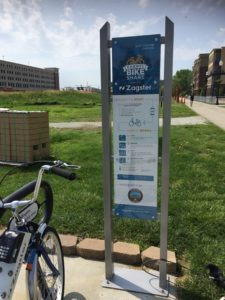 Carmel Bike Share Program Information Board