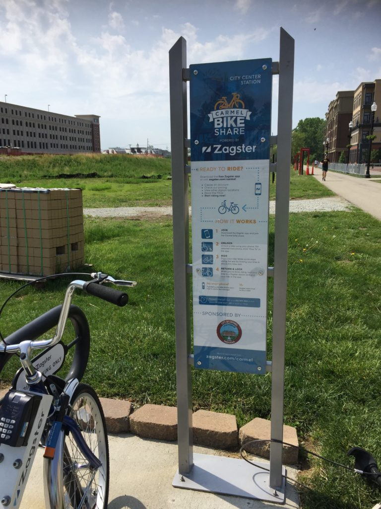 Carmel Bike Share Program Information Board