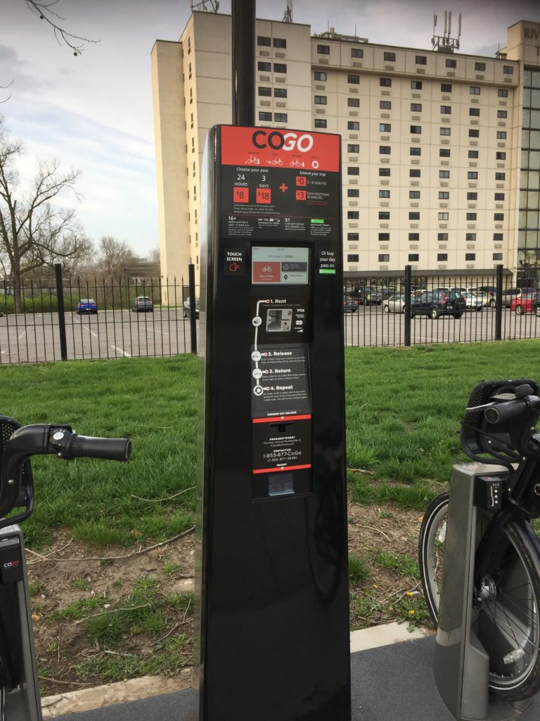 CoGo Bike Share Pay Kiosk