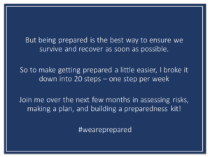 Join me in 20 weeks to preparedness