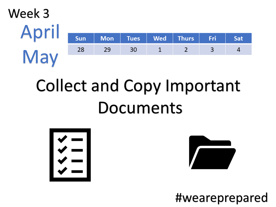 Collect and Copy Important Documents