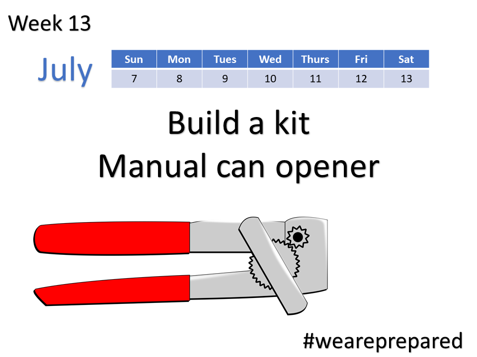Build a kit - manual can opener - week 13