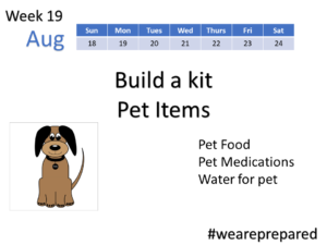 Build a Kit - Pet Items - Week 19