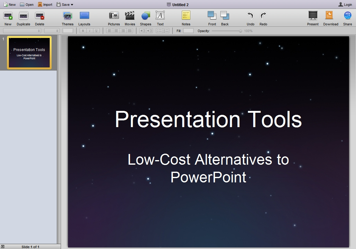 280 Slides Presentation Screenshot
