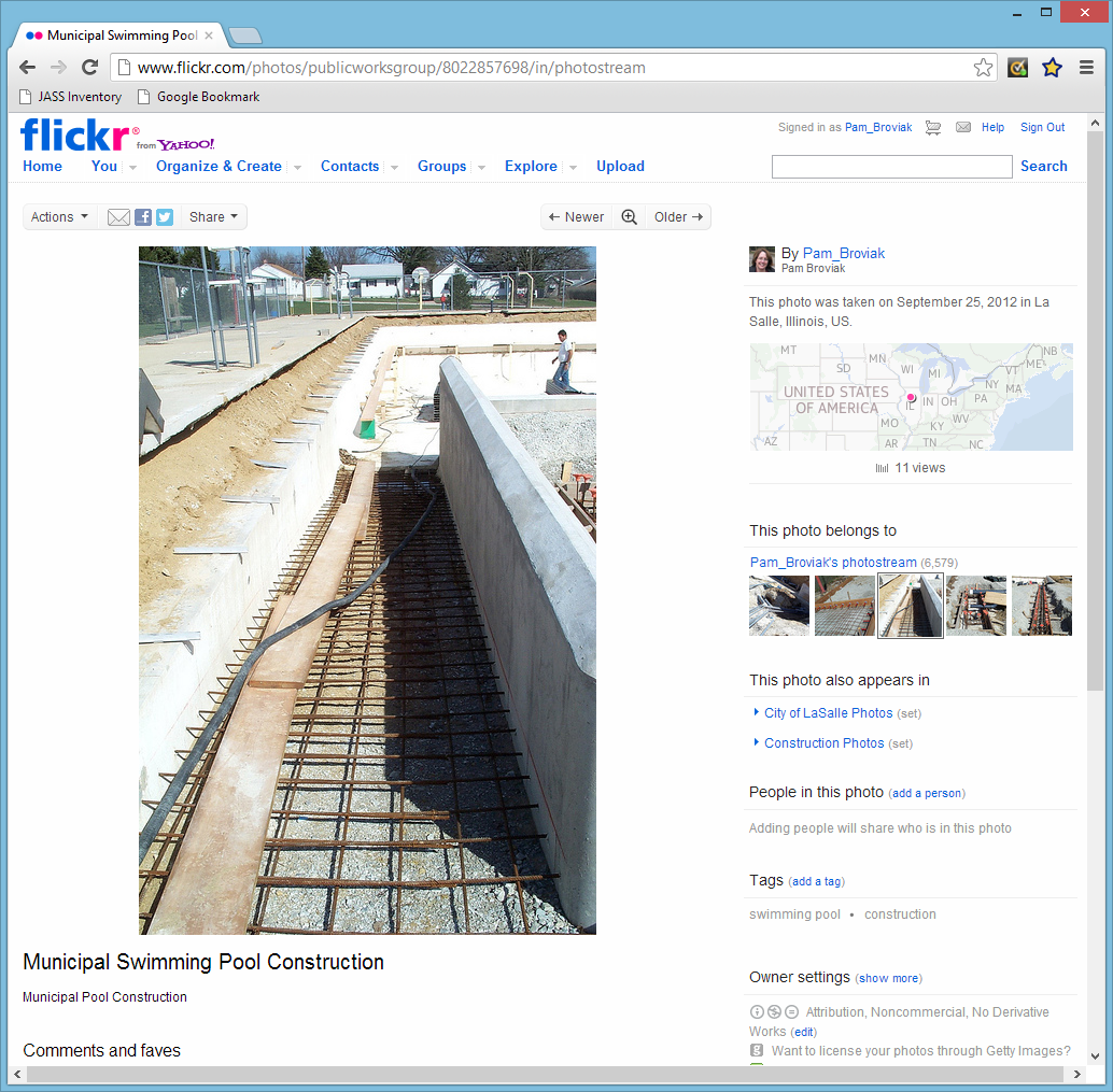 Flickr Photo Page