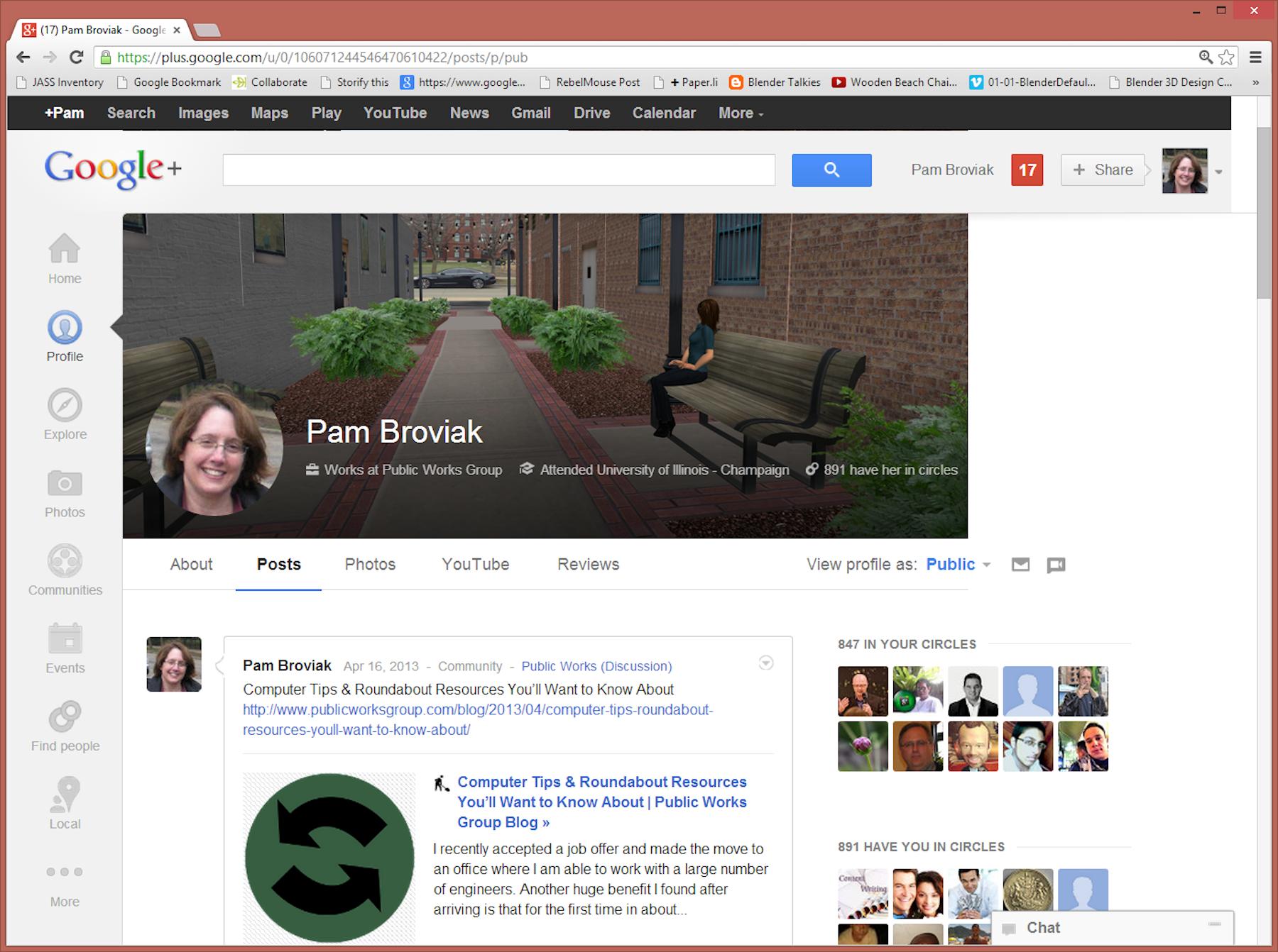 Google Plus Profile Page Example