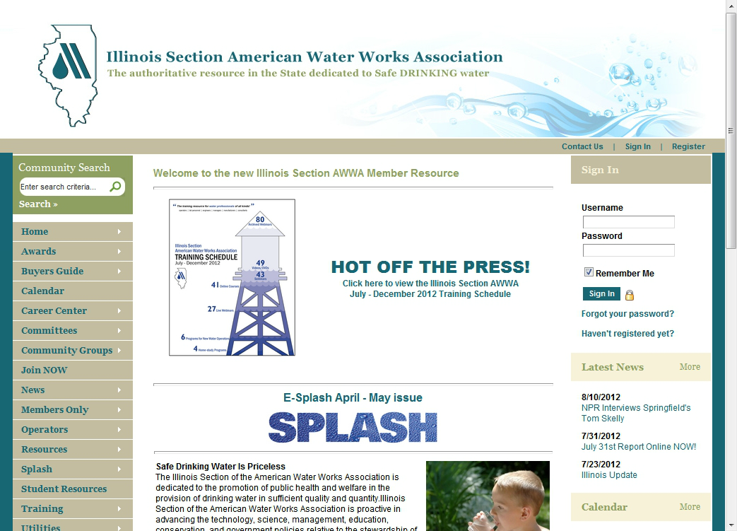 Illinois Section AWWA Network Page